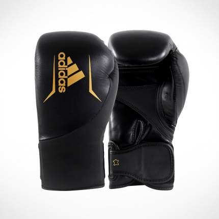 Перчатки боксерские adidas Speed 200 черно-золотые
