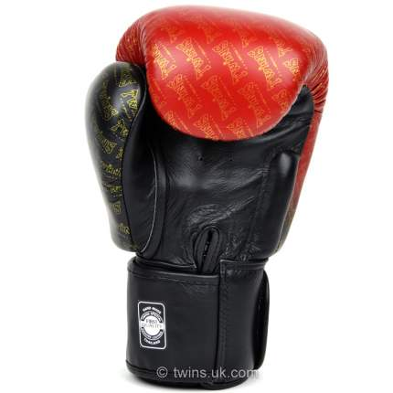 Перчатки боксерские Twins FBGVL3-TW1 FANCY BOXING GLOVES черно-красные