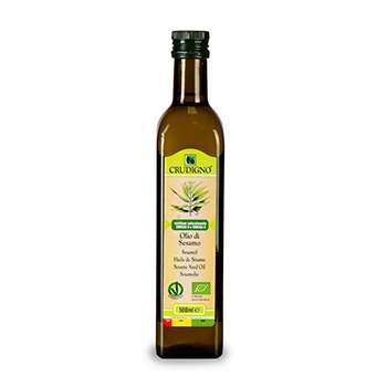"Масло ""Crudigno"" кунжутное БИО Organic oils, 500 мл, Италия"