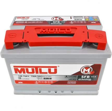 Аккумулятор MUTLU SFB 75 А/ч 575 111 072 обратная R+ EN 720A 278x175x190 L3.75.072.A
