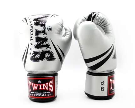 Боксерские перчатки Twins FBGVS3-TW6 Fancy Boxing Gloves черные/серебристые 14 унций