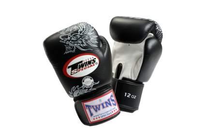 Боксерские перчатки Twins Special FBGVL3-6 FANCY BOXING GLOVES черно-серебряные