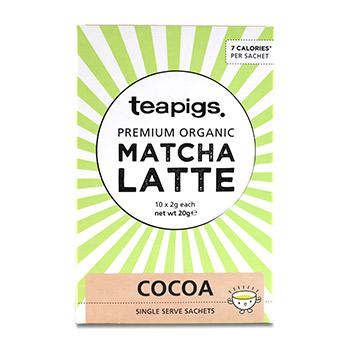 Чай зеленый  Teapigs Матча Латте с добавлением какао Organic 10 x 2г порционная Германия