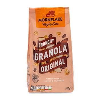 """Гранола """"Mornflake Original"""" овсяные с изюмом, мёдом и миндалём, 500 г, Великобритания"""
