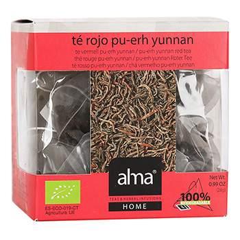 Чай красный «Пу Эр Organic», Alma Home, 15х1.86 г, Испания