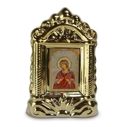 """Икона """"Богородица (Семистрельная)"""" (14/10/20см)."""