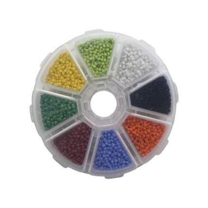 Набор бисера для рукоделия, (стекло), 8 цветов по 16 гр., 'Астра' 688561