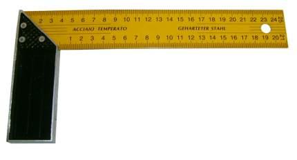 Угольник столярный 300мм желтый Skrab 40301