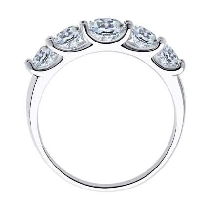 Кольцо женское SOKOLOV из серебра со Swarovski Zirconia 89010041 р.19