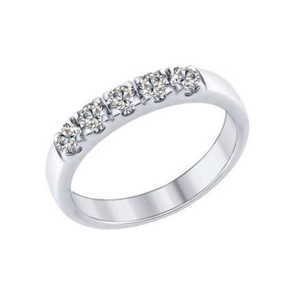 Кольцо женское SOKOLOV из серебра со Swarovski Zirconia 89010061 р.19.5