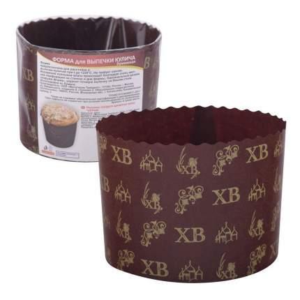 Форма для выпечки кулича бумажная, 3 шт. 11х8,5 см