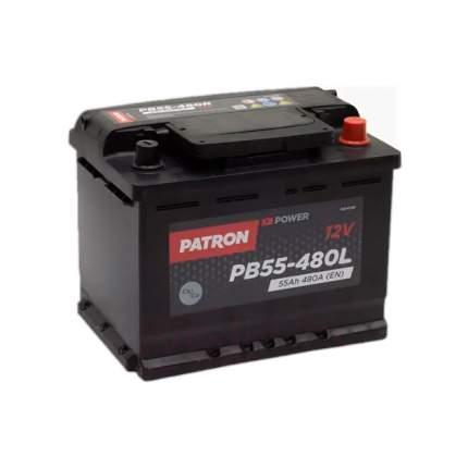 Аккумулятор PATRON POWER 12V 55AH 480A ETN 1(L+) 242x175x190mm 13,4kg