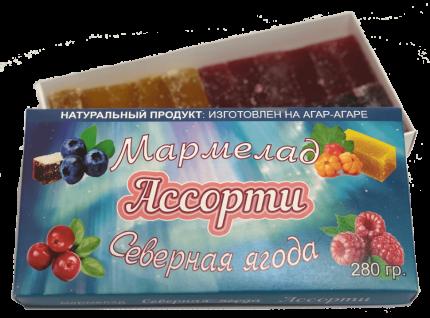"Мармелад ассорти ""Северная ягода"" (малина, морошка, брусника, черника)"