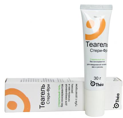 ТЕАГЕЛЬ СТЕРИ-ФРИ, очищающее средство для глаз, гель для ежедневной гигиены век и ресниц