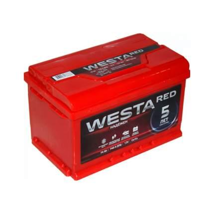 Аккумулятор WESTA RED 74 А/ч 276x175x190 EN760 WESTA 6СТ-74VLRED