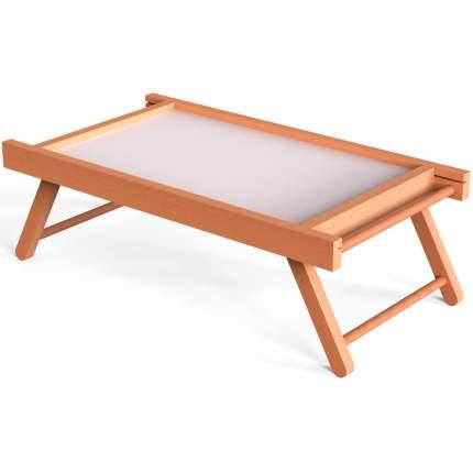 """Столик для завтрака """"Белый"""" 60x33,5 см массив дерева, натуральный Дубравия KD-034-148"""