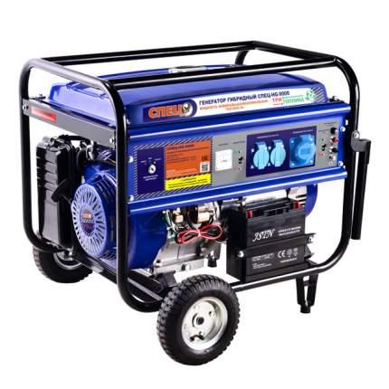 Гибридный генератор газ-бензин СПЕЦ HG-9000 и комплект для подключения к сети+баллону