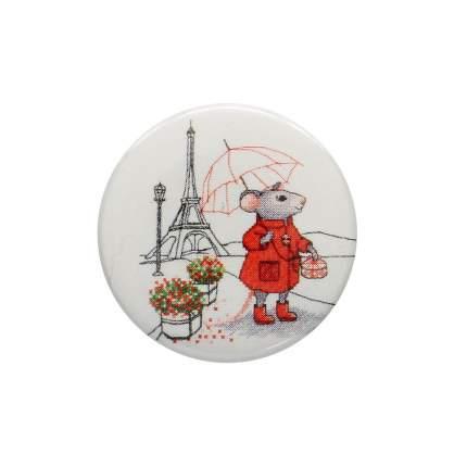 Магнитная игольница 'Мышка в Париже' 25*3мм Hobby&Pro 559350