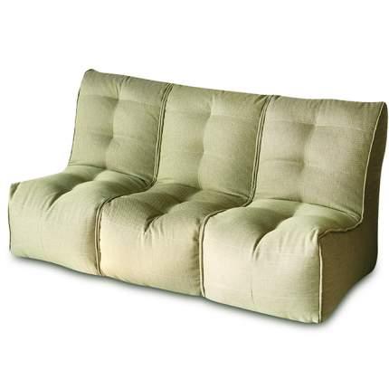 Бескаркасный модульный диван DreamBag Shape 3 one size, рогожка, Оливковый