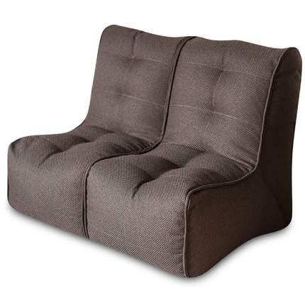 Бескаркасный модульный диван DreamBag Shape 2 one size, рогожка, Коричневый