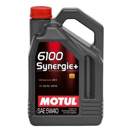 Моторное масло Motul 6100 Synergie + 5w-40 4л