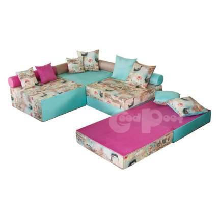 Бескаркасный модульный диван GoodPoof Family-II one size, жаккард, Разноцветный