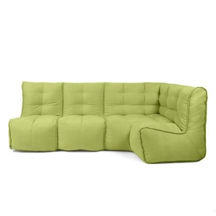 Бескаркасный модульный диван GoodPoof Мод L-II one size, велюр, Lime Punsh