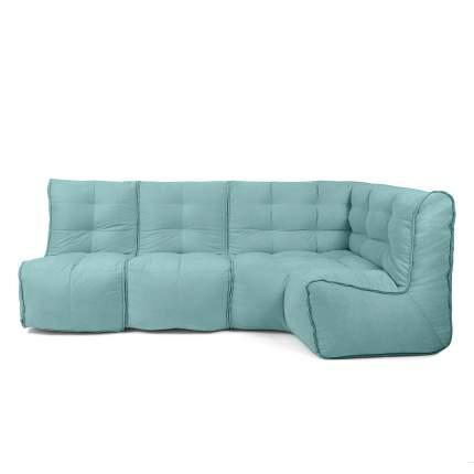 Бескаркасный модульный диван GoodPoof Мод L-II one size, велюр, Sea Water