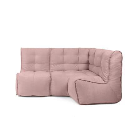 Бескаркасный модульный диван GoodPoof Мод L-I one size, велюр, Nude Powder