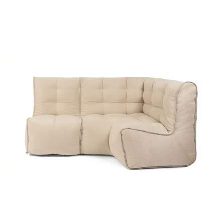 Бескаркасный модульный диван GoodPoof Мод L-I one size, велюр, Natural Linen