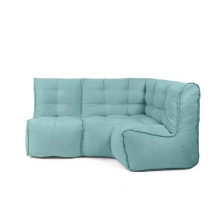 Бескаркасный модульный диван GoodPoof Мод L-I one size, велюр, Sea Water