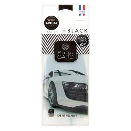 Ароматизатор подвесной пластина (парфюм) Black Prestiged AROMA CAR