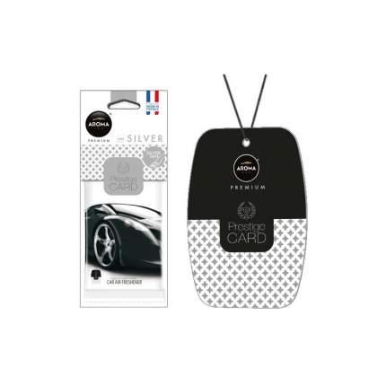 Ароматизатор подвесной пластина (парфюм) Silver Prestiged AROMA CAR