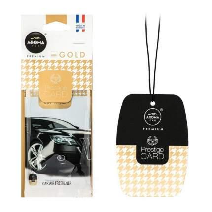 Ароматизатор подвесной пластина (парфюм) Gold Prestiged AROMA CAR