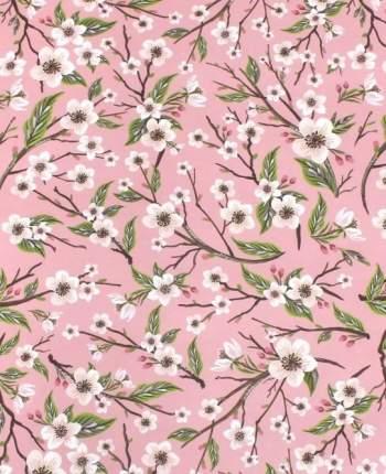 "Упаковочная бумага ""Яблоневые цветы"" 1070274, 70 х 100 см"