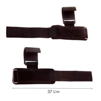 Крюки для перекладины и тяги, 2 шт, цвет черный, длина ремня 37 см, Atlanterra AT-HK-01