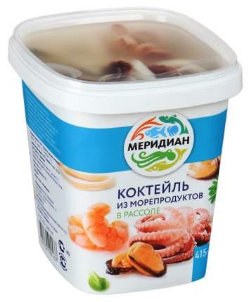 Коктейль из морепродуктов в рассоле 415г меридиан