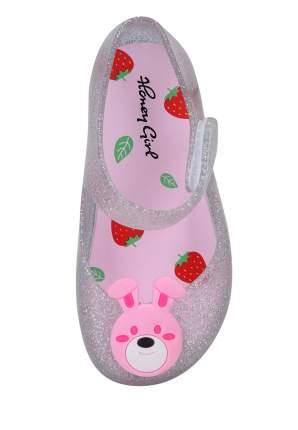 Резиновая обувь для девочек Honey Girl, цв. серебристый, р-р 24