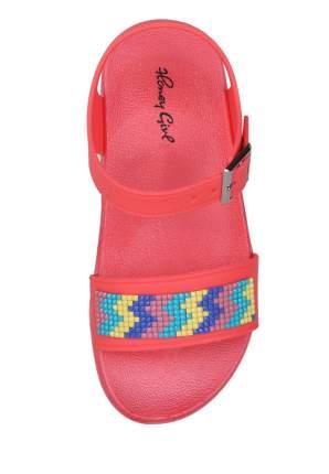 Резиновая обувь для девочек Honey Girl, цв. коралловый, р-р 26