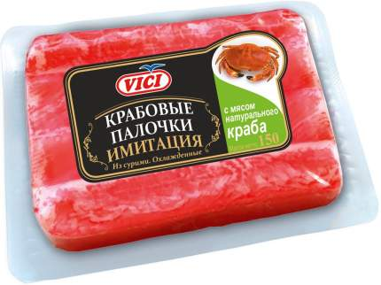 Крабовые палочки Vici с мясом натурального краба, охлажденные 170 г