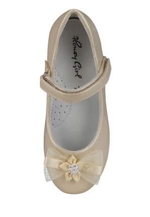 Туфли праздничные для девочек Honey Girl, цв. золотистый, р-р 26
