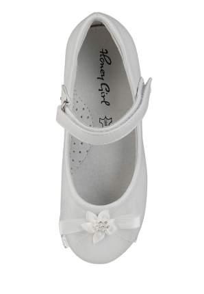 Туфли праздничные для девочек Honey Girl, цв. белый, р-р 26