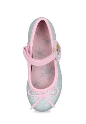Туфли детские Frozen, цв. серебристый р.26