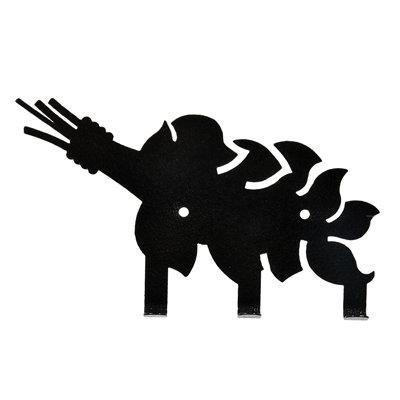 Вешалка Банные Штучки Веник металлическая 3 крючка