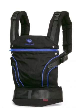 Слинг-рюкзак Manduca BlackLine Синий в комплекте с накладками