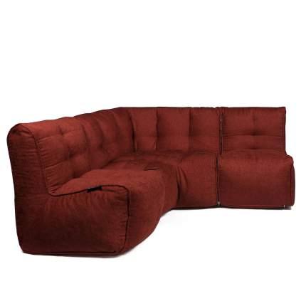 Бескаркасный модульный диван GoodPoof Мод L-II one size, шенилл, Red Cardinal