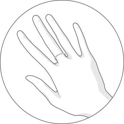 Тонкое кольцо женское SOKOLOV из серебра с фианитами 94011488 р.17