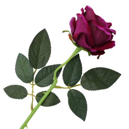 """Цветок искусственный """"Роза вельвет"""" 50см фиолетовый"""