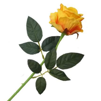 """Цветок искусственный """"Роза вельвет"""" 50см желтый"""