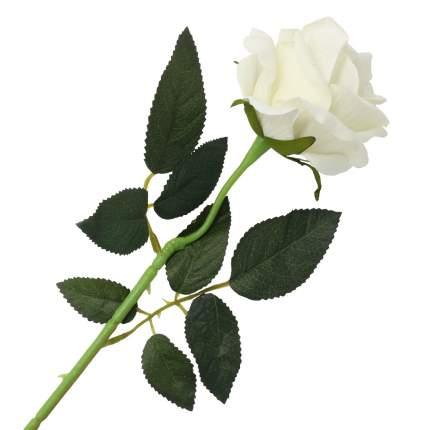 """Цветок искусственный """"Роза вельвет"""" 50см белый"""